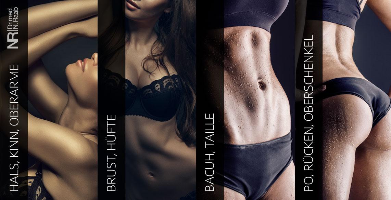 Vaser ® Hi Def Contouring weibliche Problemzonen - Fettabsaugung München